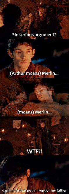 It always happens in front of Merlin's father/father figures...