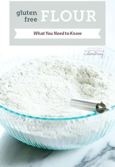 Everything you need to know about gluten free flour blends, including when and where to use them for best results in gluten free cooking and baking and my recommended blends. It's all here! http://glutenfreeonashoestring.com/all-purpose-gluten-free-flour-recipes/