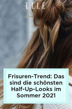 Frisuren-Trend: Im Sommer 2021 setzen wir auf 4 coole Half-Up-Looks für die Haare. Welche es sind, zeigen wir jetzt im Elle-Video! #beauty #haut #hautpflege #skincare