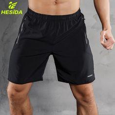 87bda96079 Barato Hombres Deportes Correr Pantalones Cortos de Secado rápido  Corrientes Respirables Tenis Training Short Men Fitness