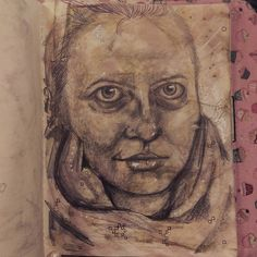Posted by mooglets : Done #art #artist #selfportrait #sketchbook no resting bitchface in this one