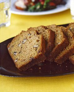Zucchini Nut Bread-this is the recipe I use but I use whole wheat flour and add ground flax seed. Love it! SD