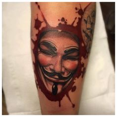Tattoo Art Project Very cool Guy Fawkes piece by Jens Bergström Official