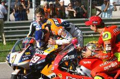 2006 world champions Bautista (125), Hayden (MotoGP), Lorenzo (250), Valencia MotoGP, 2006