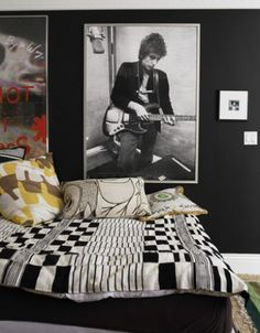 If I ever have a teenage son ...  A Rock-and-Roll Bedroom Black can actually work for a teenager's room. Just add pops of bright color, like a graphic pillow, to keep the space from feeling too stark. Designer Windsor Smith painted her son's room in the hue for a rock-star feeling.  Reprinted with Permission of Hearst Communications, Inc. Originally Published: 10 Cool Kids' Rooms Photo: Victoria Pearson / SF