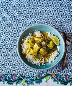 Indian Fish And Creamy Curried Cauliflower Recipe — Dishmaps