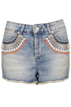MOTO Embellished Denim Hotpants - New In This Week  - New In
