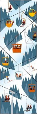 Lifts by Charlie Adam : Bungalow Graphics, buy Art Prints & Laminates, Winter Art online - Bungalow - Limited Edition Graphics Ski Vintage, Vintage Ski Posters, Vintage Prints, Vintage Art, Mountain Illustration, Graphic Illustration, Illustrations, Charlie Adam, Winter Scenes