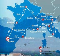 Oferta de viaje a Espa�a. Entra, informate y reserva el viaje Circuito de 15 dias por la Europa Turista Inicio y Final en Madrid