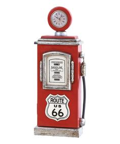 Route 66 Gas Pump Table Clock