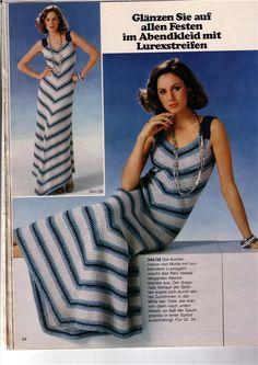 Схема вязания крючком платья по диагонали без швов