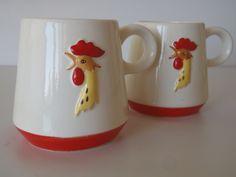 Holt Howard Cocoa Cup Mug Vintage 1960s / by FeistyFarmersWife, etsy