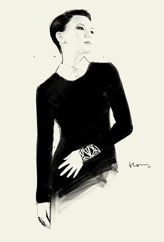 Fashion illustration by Floyd Grey #malaysia #fashionillustration