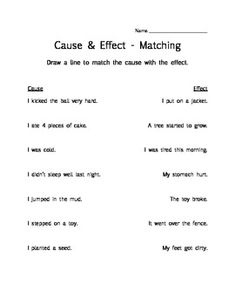 Teaching cause and effect essay middle school