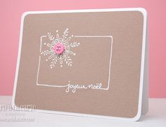 LOVE this!  Need to find a snowflake stamp.
