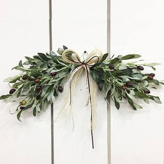 Artificial olive leaf door swag / Door decor / Front door