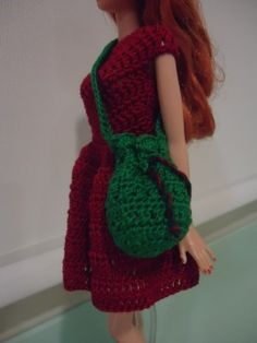 Barbie Bikini Drawstring Bag http://dezalyx.hubpages.com/hub/Barbie-Bikini-Drawstring-Bag-Free-Crochet-Pattern