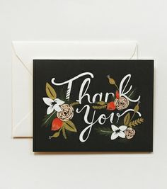I've got a real thing for black backgrounds at the moment, these thank you cards are beautiful. $16.00 for 8
