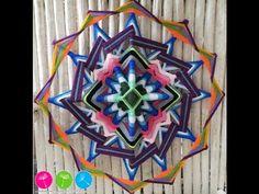 Como Hacer un Mandala de 12 puntas: Portal en  Azul y Rosa