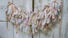 Fabric garland shabby chic scrap fabric by AnitaSperoDesign