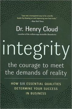 In Integrity, Dr. Cloud explores the six qualities of character that define integrity. He uses stories from well-known business leaders like Michael Dell and sports figures like Tiger Woods to illustrate each of these qualities. He shows us how people with integrity: