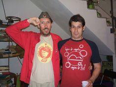 Nema problema! Erik Gobetti con l'editore Sandro De Vito.