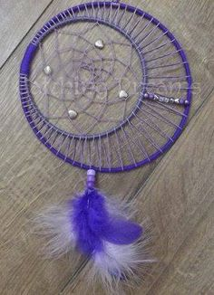 """Double-ringed Dream Catcher (7"""" & 5"""" rings) with the smaller ring…"""