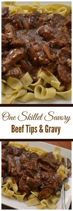 beef recipes ne Skillet Savory Beef Tips and Gravy combines beef steak, mushrooms, onions and garlic in a rich creamy gravy that is lightly seasoned. It is quick to prepare and mouthwatering delicious. Beef Steak Recipes, Beef Recipes For Dinner, Cooking Recipes, Healthy Recipes, Stew Meat Recipes Quick, Steak Tips, Easy Recipes, Skillet Recipes, Chicken Recipes