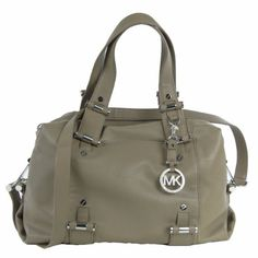 Michael Kors Gibson Large Satchel Dusk Leather [Apparel] Leather and textile lining.. Dust bag included.. Top zip closure. Inside One backwall zip pocket and four slide in pockets.. Silver tone hardware. Double handle and Shoulder strap.. Approx. 13.5-14 wide. 9-10 height. 5.5-6 deep. 8 Double straps form center..  #MichaelKors #Apparel