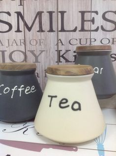 Coffee, sugar, tea ceramic jars!