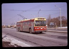 ORIGINAL SLIDE TROLLEY BUS 9221 TTC TORONTO KODACHROME 1973