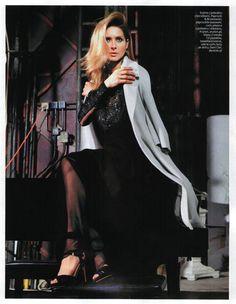 Urszula Grabowska w płaszczu ARYTON  z kolekcji wiosna-lato 2013, w sesji zdjęciowej do In Style.