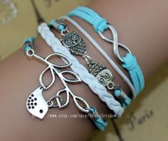 The ancient silver infinity and owl bracelet by braceletshow, $3.99