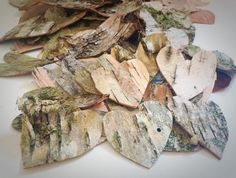 250 Biodegradable and Natural Birch Bark Confetti Hearts for Flower Girls and Table Decor, Great For Floral Decor or Natural Centerpieces on Etsy, $50.00