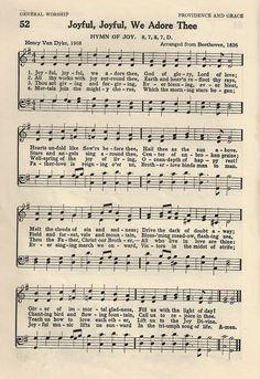 Little Birdie Blessings: Hymn ~ Joyful Joyful We Adore Thee