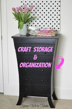 IHeart Organizing: UHeart Organizing: Creative and Unexpected Craft Storage  --  using a tall jewelry chest (and using drawers in general)