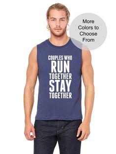 COUPLES WHO RUN TOGETHER STAY TOGETHER.  Check out our store today! Click the link in our bio!  #funnysaying #funnygymshirt #funnygymtee #funnyworkoutshirt #run #running #runner #runners #runhappy #runningshoes #runchat #runtoinspire #runnergirl #runnerscommunity #runforfun #runrunrun #runnershigh #runforlife #runnerslife #marathon   https://www.etsy.com/listing/500485644/couples-who-run-together-stay-together?ref=related-1