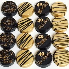 Printer Metal Technology Happy Retirement Quotes The Beach Chocolate Covered Treats, Chocolate Dipped Oreos, Chocolate Covered Strawberries, Chocolate Art, Gold Dessert, Dessert Buffet, Dessert Ideas, Oreo Cookies, Sugar Cookies
