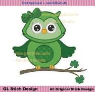 machine embroidery design owl eyes - Google Search