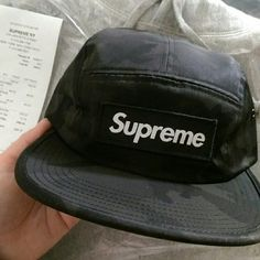 Supreme black camo camp cap From the nyc drop 4/14/16 NTW never worn Nylon camo camp hat with black boxlogo Supreme Supreme Accessories Hats