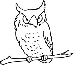 Owl 19 coloring page   Super Coloring
