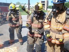Firefighters with ToxiRAE