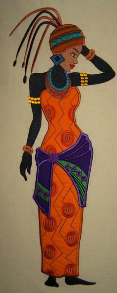 An exotic lady in tribal dress boasts vibrant colors incorporating traditional and modern elements.