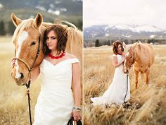 Grace bride and her horse.  http://marrymeweddings.in/wpblog/love-your-pet-heres-how-they-can-be-a-part-of-your-wedding.html