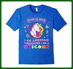 Mens I Am A Unicorn Shirt For Girls - Cute Unicorn T-Shirt Small Royal Blue - Fantasy sci fi shirts (*Amazon Partner-Link)