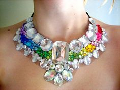 Rainbow statement necklace #vanitysdraghunt #dragqueens #fabulousoutfits