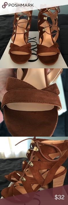 "XOXO Barbie Lace-up Sandals Round-toe lace-up sandals  Ghillie lace design   3 1/2"" block heel XOXO Shoes Sandals"