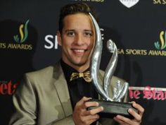 Olympic gold medallist Chad Le Clos was crowned Sports Star Year at the SA Sports Awards at Sandton Convention Centre Sports Awards, Convention Centre, Olympics, South Africa, African, Stars, Celebrities, Gold, Men