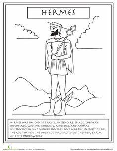 Worksheets: Greek Gods: Hermes