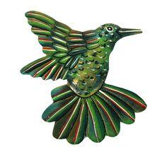 Metal Hummingbird Wall Art - Haiti